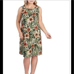 AK BY ANNE KLEIN Hibiscus Sleeveless Shift…